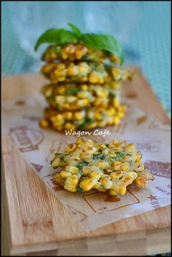 Corn and Basil Fritters Recipe