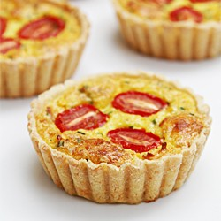 Corn Tarts with Gruyere and Tomatoes Recipe