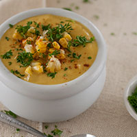 Creamy Corn Chowder Gluten Free Vegan Recipe