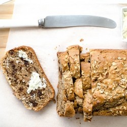 Date Walnut Loaf Cake Vegan Recipe