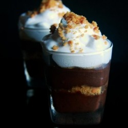 Deep Dark Chocolate Cognac Pudding