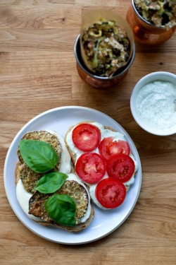 Eggplant Sandwich with Basil Aioli Recipe
