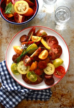 Heirloom Tomato Chorizo Salad Recipe