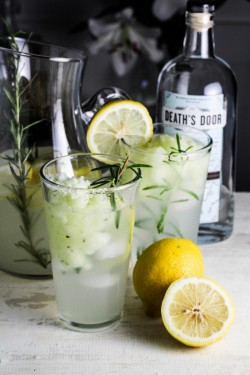 Lemon Rosemary Gin Fizz Cocktail Recipe