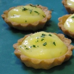 Mini Grapefruit Tarts in Cardamom Pate Sucree Crust