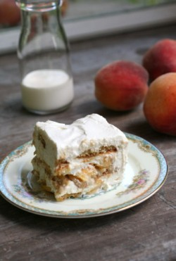 Peaches Cream Icebox Cake No Bake Recipe