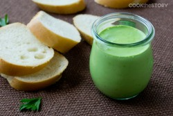 Portuguese Style Milk Mayonnaise with Parsley and Garlic Recipe