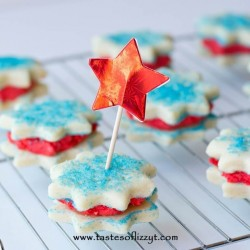 Red White Blue Star Sandwich Cookies Recipe