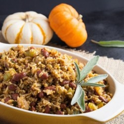 Rice Beans Sausage Stuffing Recipe