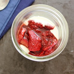 Roasted Spiced Strawberries with Honey Vanilla Yogurt