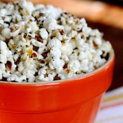 Rosemary Parmesan Popcorn with Black Pepper