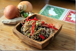 Soba Noodles with Vegetables and Mustard Soy Dressing