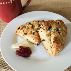 Sour Cream Scones with Dried Fruit Recipe