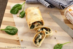 Spinach Pear Taleggio Strudel Recipe