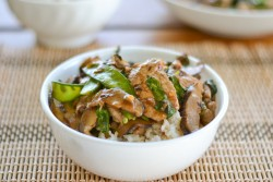 Stir-Fried Pork with Shiitake and Snow Peas
