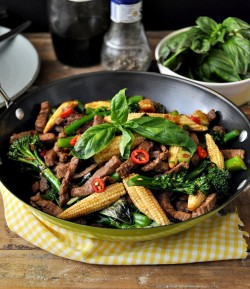 Thai Beef Vegetable Basil Stir Fry Recipe