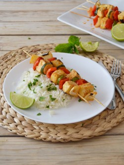Tofu and Vegetable Skewers Recipe