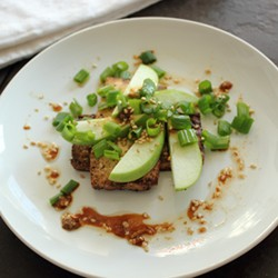 Tofu with Apple Scallions and Soy Sesame Dressing Recipe