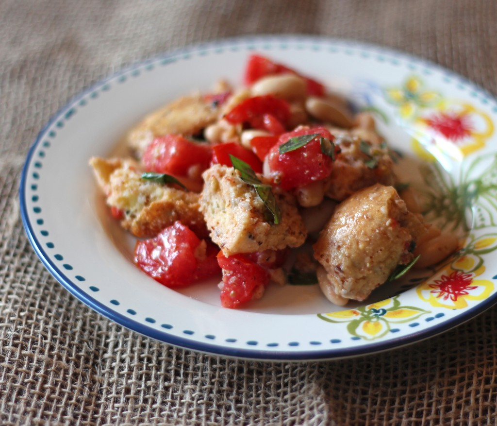 White Bean Tomato Panzanella Recipe