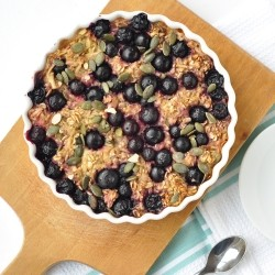 Apple Blueberry Baked Oatmeal Recipe