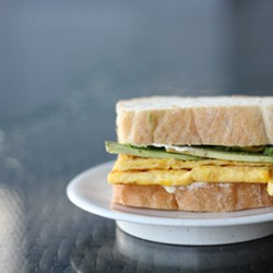 Avocado Egg Omelette Sandwich Recipe