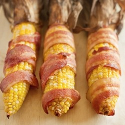 Bacon Wrapped Corn on the Cob Recipe