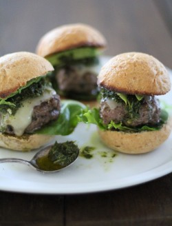 Beef Sliders with Homemade Chimichurri Sauce Recipe