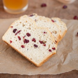 Beer Bread with Orange Cranberries Witbier