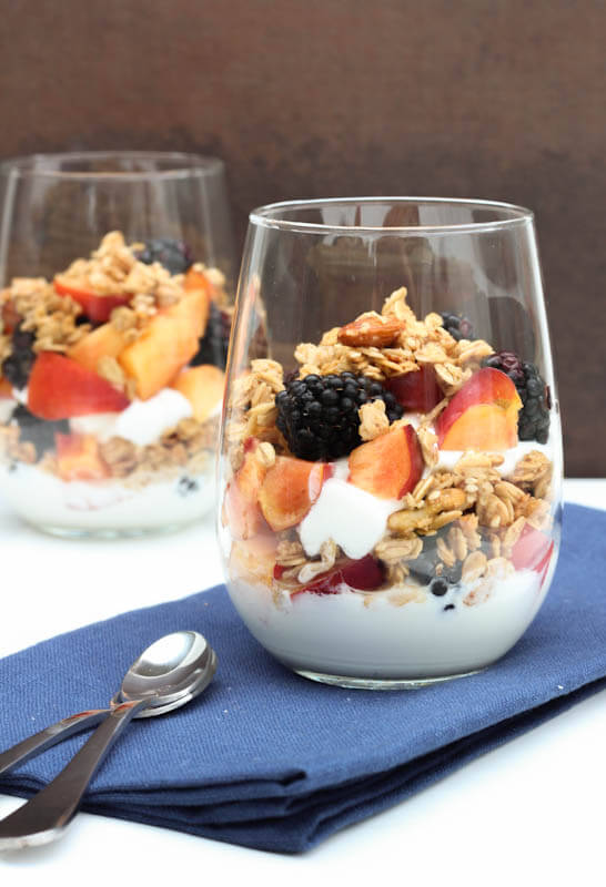Blackberry and Nectarine Parfait Recipe