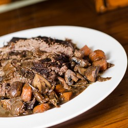 Braised Brisket with Red Wine and Mushrooms Recipe