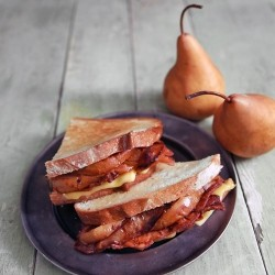 Caramelized Pears Bacon Havarti Grilled Cheese Sandwich Recipe
