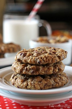 Chunky Oatmeal and Chocolate Cookies Recipe