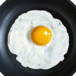 Coconut Oil Half Fried Eggs