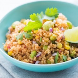 Corn and Edamame Quinoa Salad Recipe