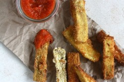Cornmeal Crusted Eggplant Fries