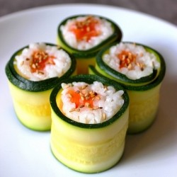 Courgette Maki with Salmon Recipe