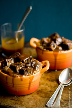 Dark Chocolate Espresso Pumpkin Bread Pudding