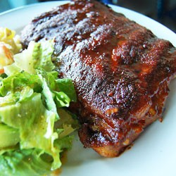 Dry Rubbed Baked Pork Ribs