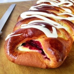 Eggnog Cranberry Christmas Braid Bread Recipe
