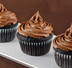 Ganache Filled Chocolate Cupcakes