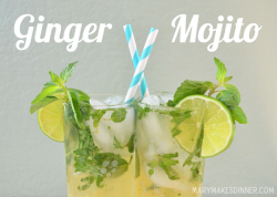 Ginger Mojito Cocktails Recipe