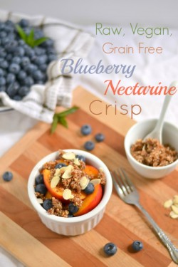 Grain Free Blueberry Nectarine Crisp Recipe