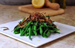 Green Beans with Crispy Leeks Recipe