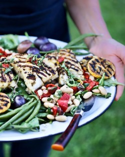 Grilled Fish Nicoise Salad Recipe