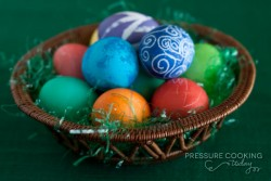 Hard Boiled Eggs for Easter in the Pressure Cooker