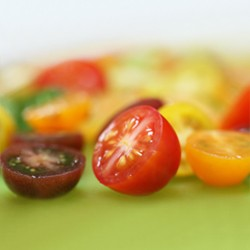 Heirloom Tomatoes for Flatbread Bianco