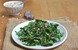 Kale Saute with Miso Dates and Millet Recipe