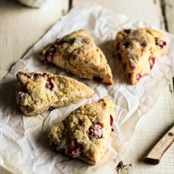 Lemon Cranberry Scones Recipe
