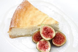 Lemon Ricotta Cheesecake with Fresh Figs and Lavender Syrup Recipe