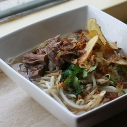 Malaysian Beef Noodle Soup Soto Daging